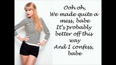Taylor Swift - I Almost Do (Lyrics On Screen) [HD]