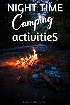 Have fun as a family with these cool camping activities at night that everyone will love! Check now our list of cool night camping games and activities. Camping Activities For Kids, Camping With Kids, Family Camping, Travel With Kids, Camping Games, Camping Checklist, Camping Essentials, Tent Camping, Glamping