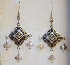Silver Filigree Earrings 258 EtsyGifts by Ziplily on Etsy