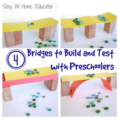 Build and Test in Bridges Theme in Preschool Bridges Preschool Theme – Stay At Home Educator Preschool Themes, Preschool Science, Preschool Lessons, Science For Kids, Transportation Preschool Activities, Construction Theme Preschool, Steam For Preschool, Creative Curriculum Preschool, Preschool Transportation