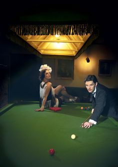 Play a game of pool with each other :)