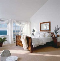 Feng Shui Tips for Bedrooms - Ideas For Room Design Small Bedroom Designs, Master Bedroom Design, Cozy Bedroom, Bedroom Decor, Bedroom Ideas, Dream Bedroom, Bedroom Furniture, Seaside Bedroom, Bedroom Pics