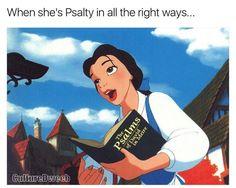 Belle loving the Psalms #PDM #ReformedHumor