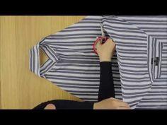 Ecco come riciclare una vecchia camicia in modo ingegnoso E SENZA CUCIRE!