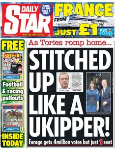 Daily Star front page - 09/05/15