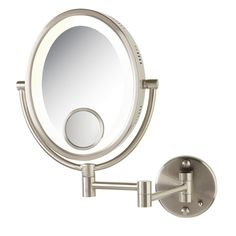 Picture Collection Website Bi View Lighted Wall Mirror Nickel