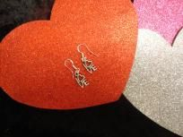 Tibet Silver Pierced Heart Earrings 003