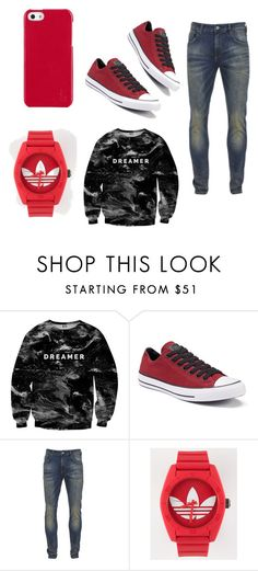 """""""W-T"""" by eh-22 on Polyvore featuring Mr. Gugu & Miss Go, Converse, Scotch & Soda, adidas, Polo Ralph Lauren, men's fashion and menswear"""