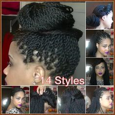 How To Style Your Senegalese Twists, Box Braids, Locks ✿ 14 Quick Easy H...