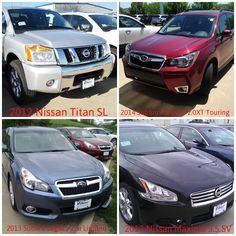 The Nissan Titan and Maxima. The Subaru Forester and Legacy