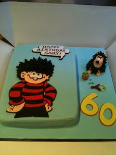 Dennis The Menace Birthday Cake With Gnasher And Pea Shooter Detail Happy Birthday, Birthday Cake, Birthday Ideas, Dennis The Menace, Cake Central, Novelty Cakes, Home Recipes, Cartoon Kids, Let Them Eat Cake