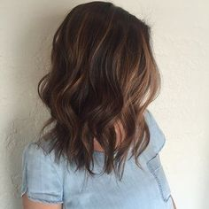 Long Bob (about shoulder length) with waves
