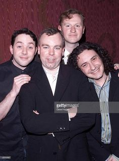 British comedians (L-R) Reece Shearsmith, Steve Pemberton, Mark Gatiss and Jeremy Dyson arrive at the opening night of 'The League of Gentlemen' held at the Theatre Royal Dury Lane on February 2001 in London. Inside No 9, Steve Pemberton, Reece Shearsmith, League Of Gentlemen, Blackadder, Alan Turing, Mark Gatiss, Photo Grouping, Hbo Series