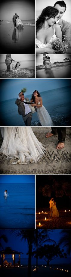 I want to get an old wedding dress and take beach pictures like this!, photography by Davina plus Daniel