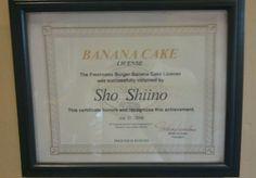 banana cake license #engrish #english #japanglish #japan #japanese