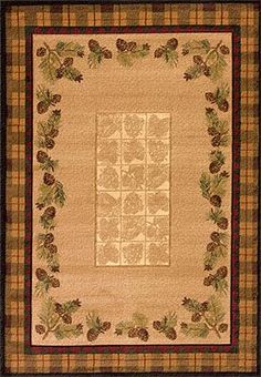 Thank you. You will receive a $1 off coupon during checkout. Pinecones and Plaid Cabin Area Rug