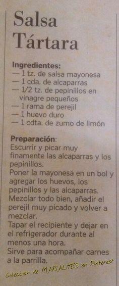 ^^ Recetas de cocina. Salsa tártara