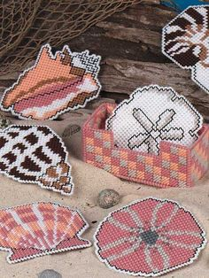 Sea Treasures Coasters ---- Nicole Rambo- show this to Gma to keep her busy =)