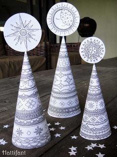 """On Red Ted Art we have this FREE 3D Christmas Tree Colouring pages for grown ups! Print colour and decorate your home for Christmas. They make a wonderful """"together activity"""" too! Cone Christmas Trees, Christmas Tree Crafts, Colorful Christmas Tree, Christmas Colors, Holiday Crafts, Christmas Time, Christmas Decorations, Santa Christmas, Christmas Candy"""
