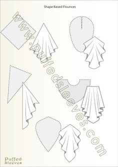 Shapes used to make flounces Illustrated tutorials for common sewing techniques and apparel construction. Printable patterns for girl dresses available Size