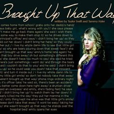 Brought Up That Way - Unreleased Song, Taylor Swift. This song makes me cry