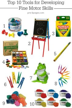 Tools for Developing Fine Motor Skills in Preschool and Kindergarten. These tools will get your kids to like writing and learn how to hold a pencil properly. Develop their fine motor skills and build the hand strength they need to become successful writers!