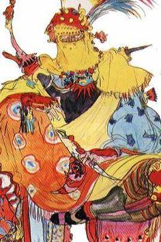 Week 6 - Final Fantasy VI - Concept Art Mon - Gogo Concept Clothing, Yoshitaka Amano, Final Fantasy Vi, Aesthetic Backgrounds, Concept Art, Steampunk, Anime, Persona, Collaboration