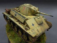 Used #MiniArt's Kit: 35026 GERMAN Pz. Kpfw. T-70 743(r) w/CREW http://miniart-models.com/35026.htm Modeller nickname: Seed