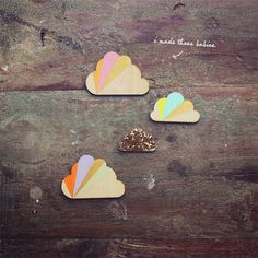 diy cloud magnets / Eat Drink Chic