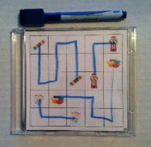 Connect Puzzles - motor planning and visual motor skills in a handy dandy wipe off CD case