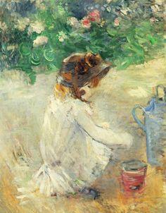 Berthe Morisot – Les Pâtés de sable – 1882. Huile sur toile – 92 x 73 cm – Collection particulière – Photo © DR