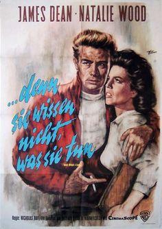 Denn sie wissen nicht was sie tun  (Rebel Without a Cause)Dt. A1 Plakat   USA 1955 - Regie: Nicholas Ray   mit: James Dean, Natalie Wood