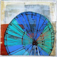 "(c) Barbara Gilhooly  Wheel #2  acrylic, ink, graphite on Rives BFK paper  11"" x 11"""