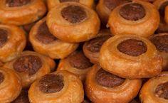Greek Desserts, Greek Recipes, Onion Rings, Doughnut, Food And Drink, Ice Cream, Sweets, Snacks, Cookies
