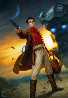 Captain Malcolm Reynolds by Dan dos Santos [Firefly Art]