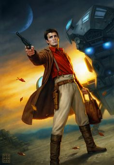 Dan Dos Santos' illustration of Malcolm Reynolds from Firefly and Serenity.