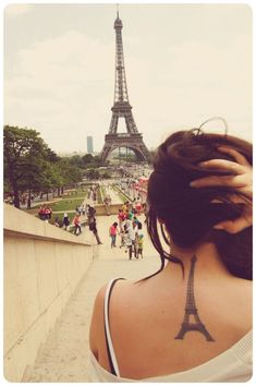 Eiffel Tower's tattoo