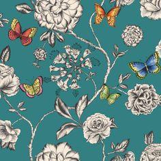 KEILENA - TEAL GREEN - Natty & Polly - Wallpaper Australia