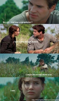 I win. #hungergames #katniss #gale