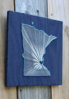 Minnesota Love // Reclaimed Wood Nail and String Art by cwrought