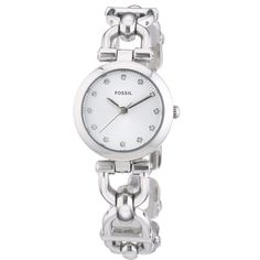 Shop for Fossil Women's Olive Silver D-llink Stainless Steel Watch. Get free delivery On EVERYTHING* Overstock - Your Online Watches Store! Elegant Watches, Stylish Watches, Jewelry Clasps, Jewelry Watches, Women's Watches, Stainless Steel Watch, Stainless Steel Bracelet, Crystal Bracelets, Link Bracelets
