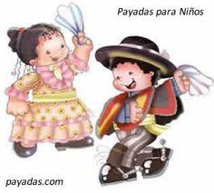 Las mejores payas para niños, para celebrar el día de la Paya y la fiesta patria del 18 de Septiembre, día de Chile, las mejores payas chilenas infantiles. Disney Characters, Fictional Characters, Minnie Mouse, Barbie, Dance, Christmas Ornaments, Holiday Decor, Gaucho, Folklore