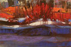 """Upon a Frozen Lake"" by Jen Evenhus Pastel"