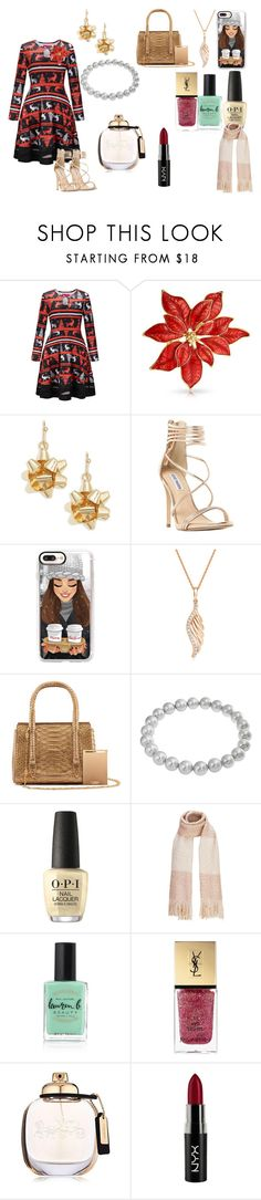 """Christmas Shopping"" by azing-1 ❤ liked on Polyvore featuring WithChic, Bling Jewelry, Design Lab, Steve Madden, Casetify, BERRICLE, La Perla, OPI, Lauren B. Beauty and Yves Saint Laurent"