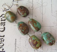 Kindly Rustic - No3 / Natural Turquoise, FWPearls, Sterling Silver