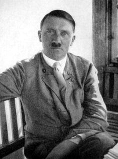 """An uncommon photo that Geli took of Hitler in the summer of 1931 on the Obersalzberg. In the margins of the contact print, Hoffmann scribbled """"von Geli gen."""" (Taken by Geli).  This expression of Hitler is almost """"soft,"""" very unusual look for him, but Geli was the love of his life. Interesting study of him. (via putschgirl)"""