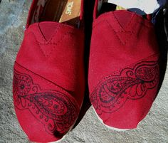 Hand Painted Custom Toms Shoes  Paisley Design by FancyToms, $20.00