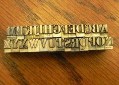 vintage lead printer type A B C's ...  http://www.etsy.com/listing/94629944/vintage-letterpress-printers-typeface