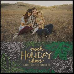 LUSH HOLLYWHITEFLAT HOLIDAY PHOTO CARDS Designer: Stacey Day for Tiny Prints