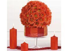 Arreglos de flores en esfera para boda